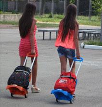 Тележки для детских рюкзаков и школьных портфелей