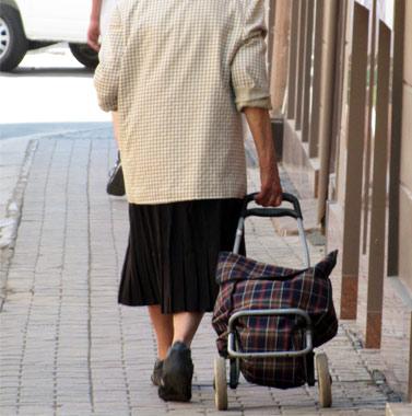 Жінка зі звичайною сумкою-візком!